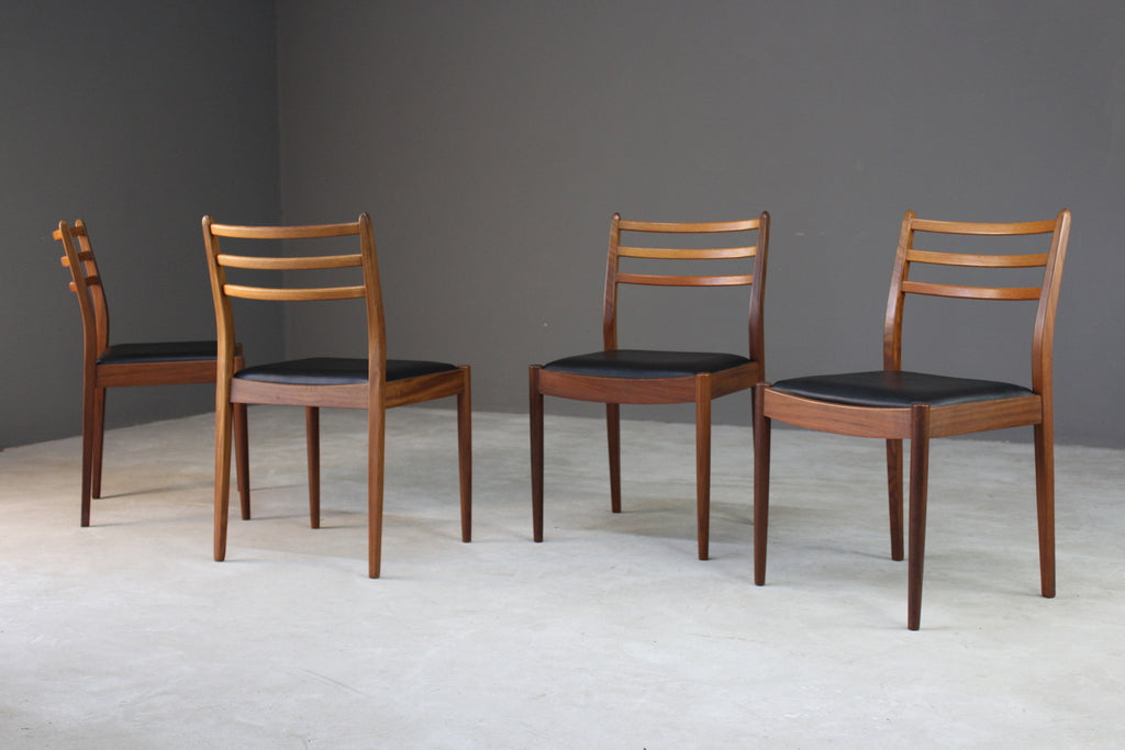 4 Victor Wilkins G Plan Teak Dining Chairs