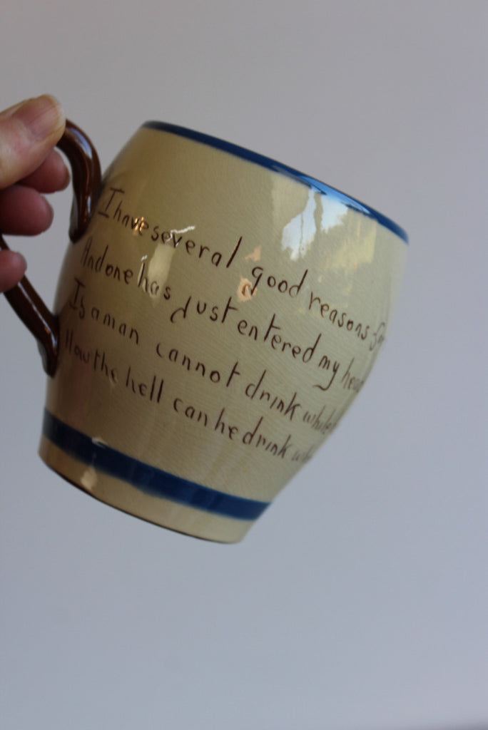 Devon Torquayware Motto Jug & Cup - Kernow Furniture
