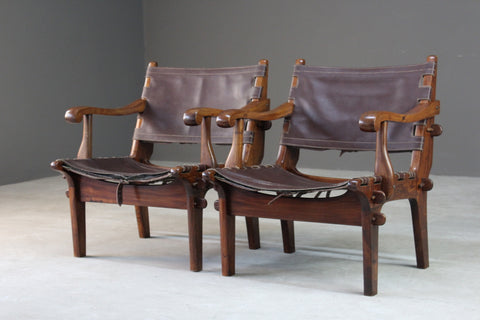 Pair Retro Safari Chairs