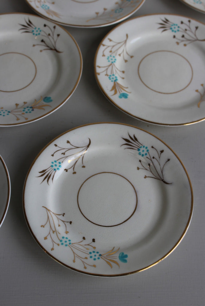 Vintage Hand Painted China Tea Plates - Kernow Furniture