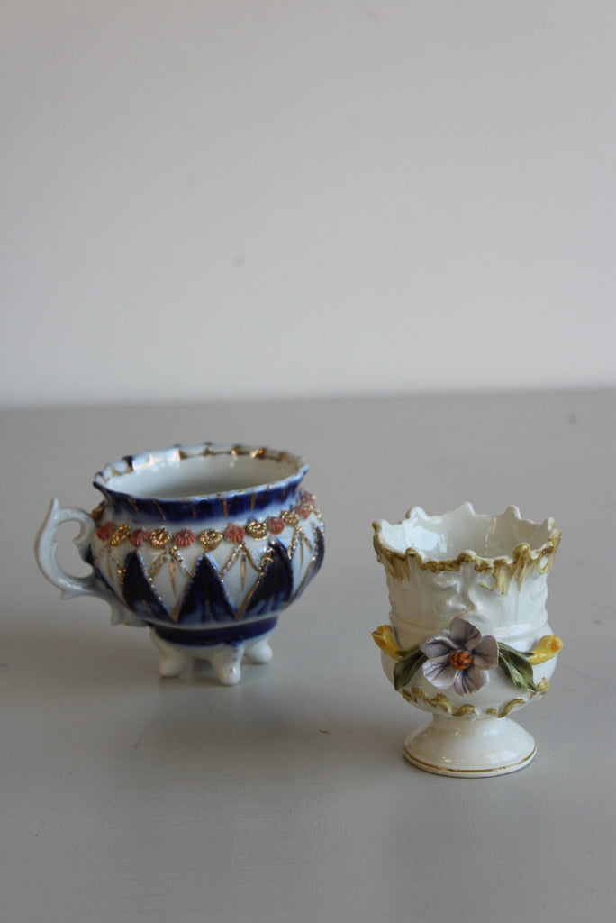 Basano Small Posy Vase & Cauldron Shape Cup - Kernow Furniture