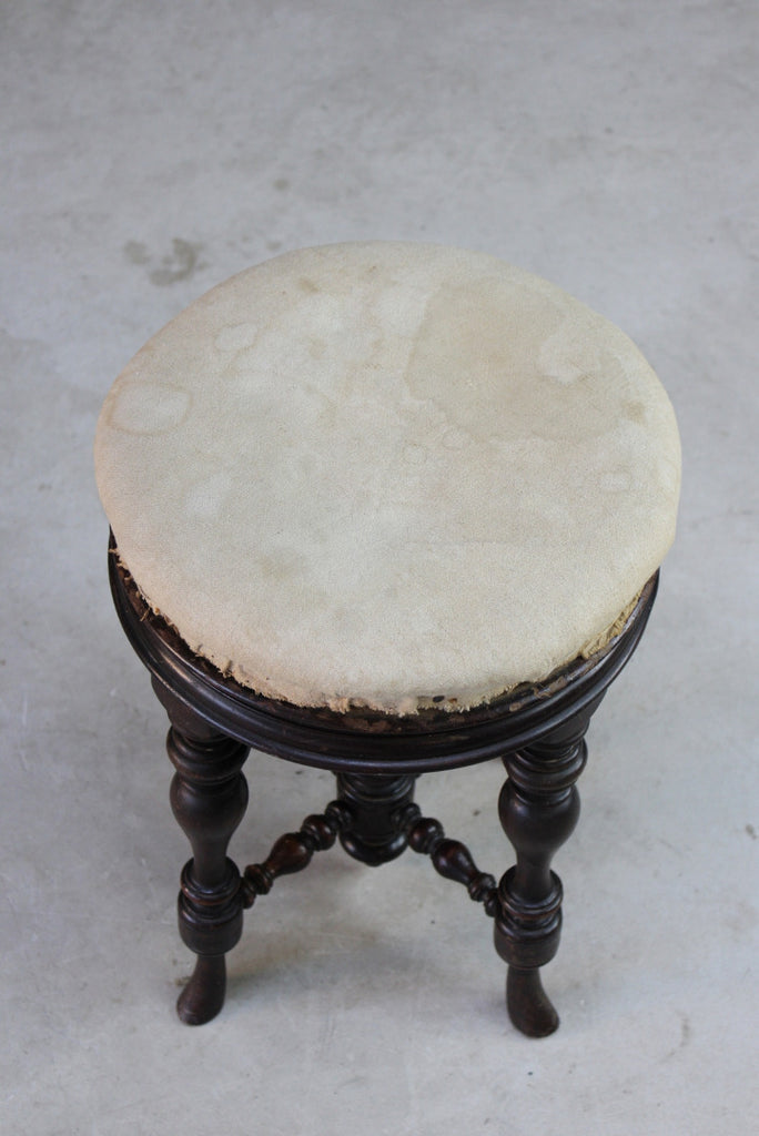 Antique Victorian Piano Stool - Kernow Furniture