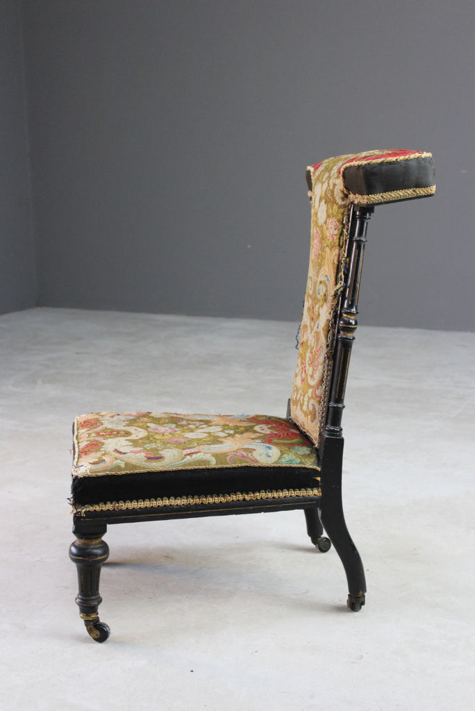 Antique Tapestry Prayer Chair - Kernow Furniture