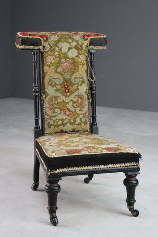 Antique Tapestry Prayer Chair