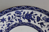 Royal Doulton Blue & White Floral Serving Plate - Kernow Furniture
