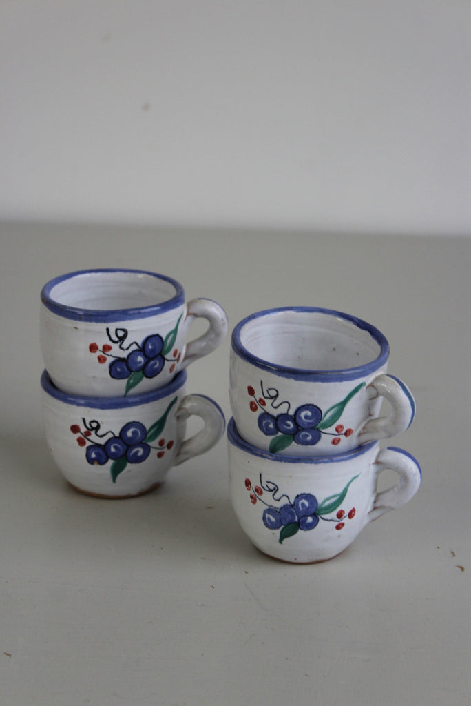 4 Pottery Cups - Kernow Furniture