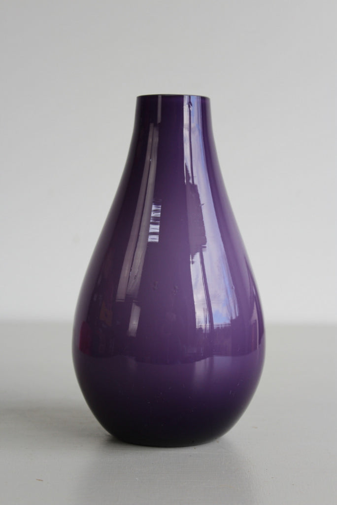 Retro Holmegaard Purple Glass Vase - Kernow Furniture
