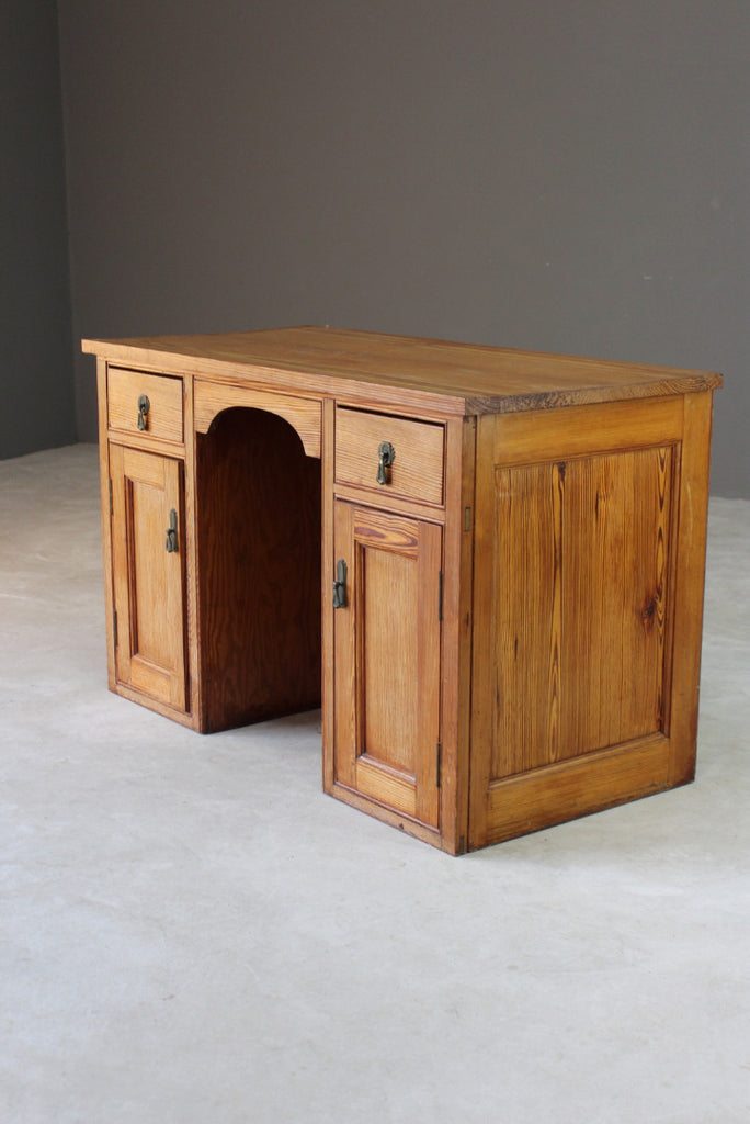 Pitch Pine Desk - Kernow Furniture