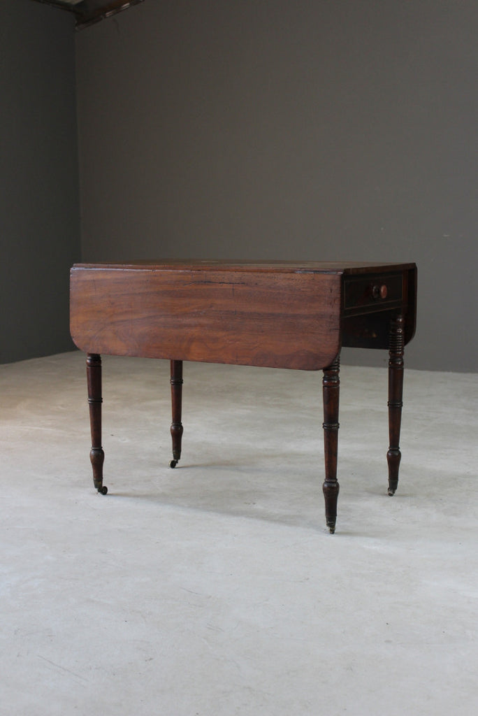 Antique Mahogany Pembroke Drop Leaf Table - Kernow Furniture