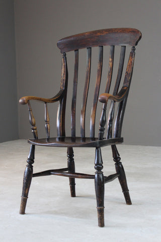 Rustic Lathe Back Kitchen Chair