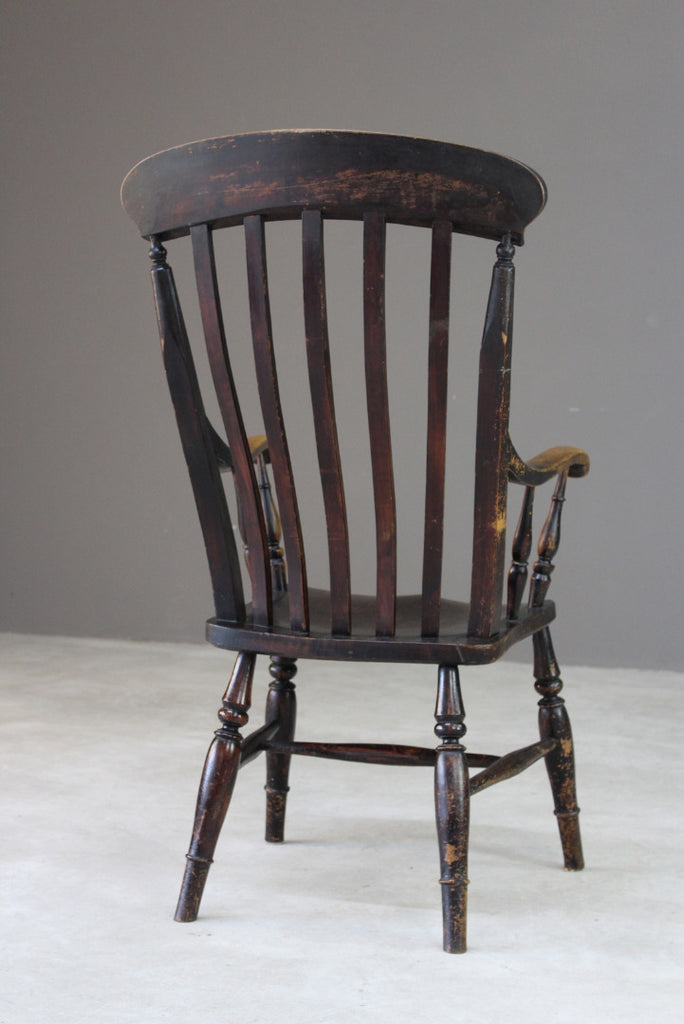 Rustic Lathe Back Kitchen Chair - Kernow Furniture