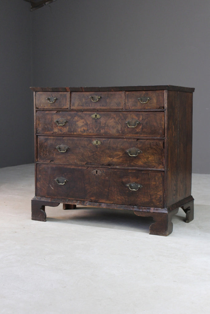 Early 18th Century Walnut Chest of Drawers - Kernow Furniture