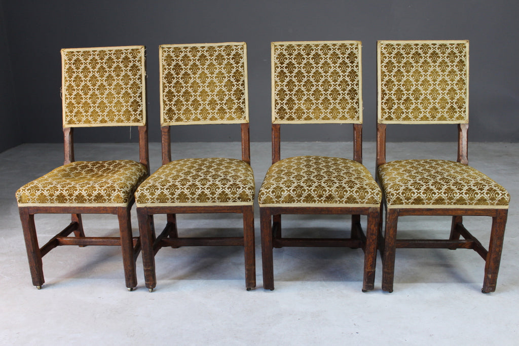 4 Gillows House of Commons Oak Chairs - Kernow Furniture
