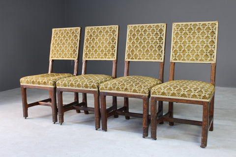 4 Gillows House of Commons Oak Chairs