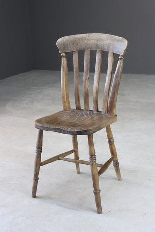 Rustic Elm Lathe Back Kitchen Chair