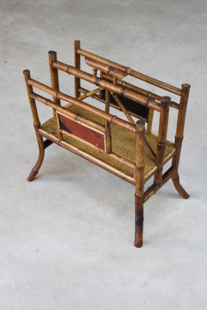 Victorian Bamboo Newspaper Rack