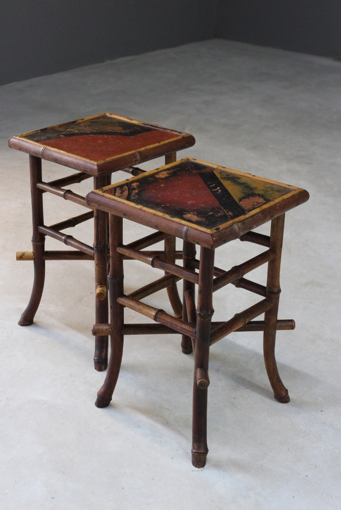 Pair Victorian Bamboo Side Tables