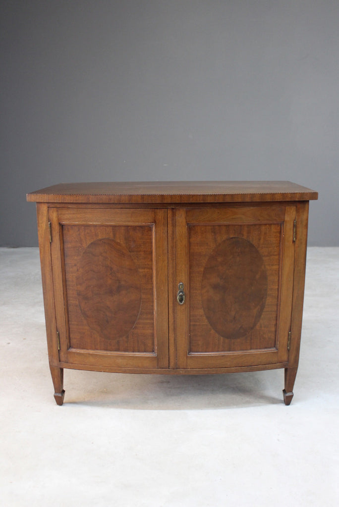 Edwardian Style Inlaid Mahogany Cupboard - Kernow Furniture