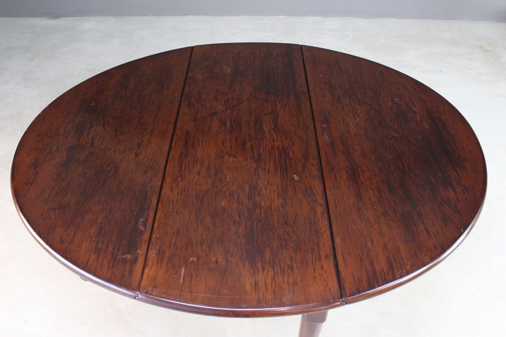 Georgian Mahogany Drop Leaf Table - Kernow Furniture