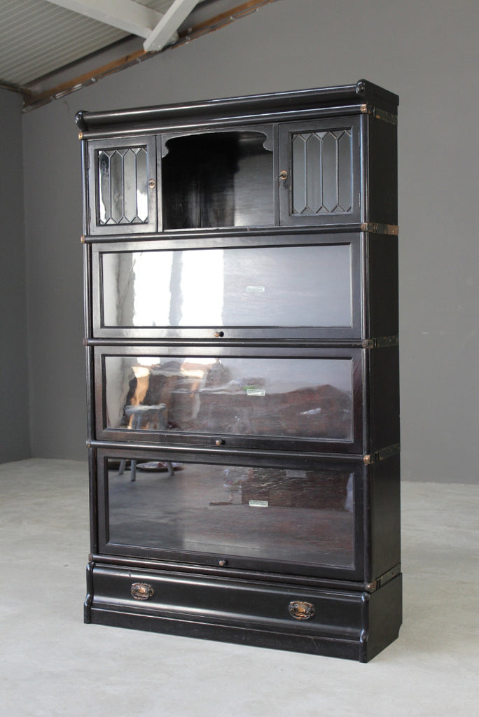 Antique Globe Wernicke Sectional Bookcase - Kernow Furniture