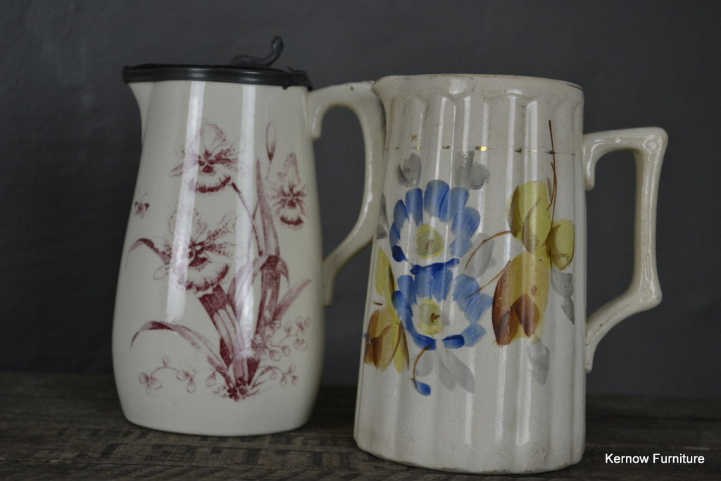 Pair Victorian Jugs - Kernow Furniture 100s vintage, retro & antique items in stock