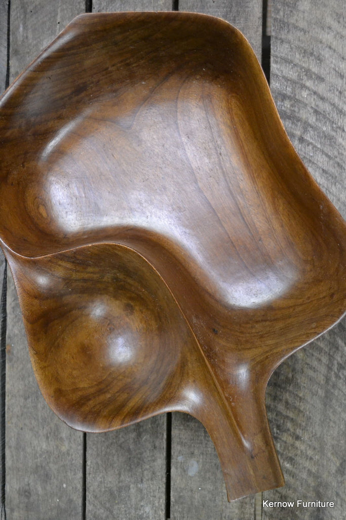 Solid Fruit Wood Serving Decorative Bowl - Kernow Furniture 100s vintage, retro & antique items in stock