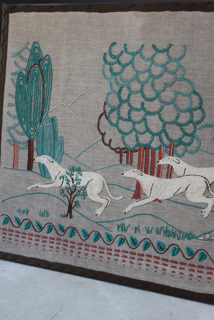 Vintage Needlework Wall Hanging - Kernow Furniture