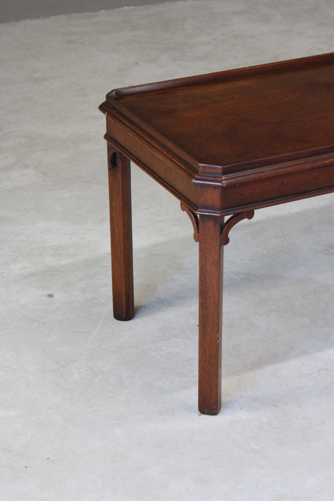 Antique Style Mahogany Coffee Table - Kernow Furniture