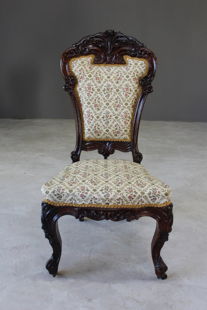 Victorian Rosewood Occasional Chair - Kernow Furniture