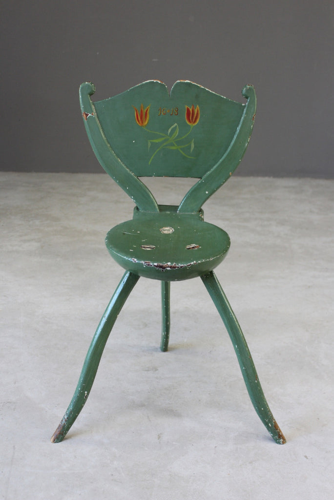 Vintage Swedish Painted Chair - Kernow Furniture