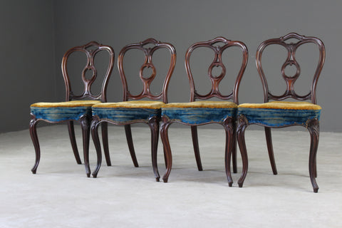 4 Victorian Rosewood Dining Chairs by Gillows