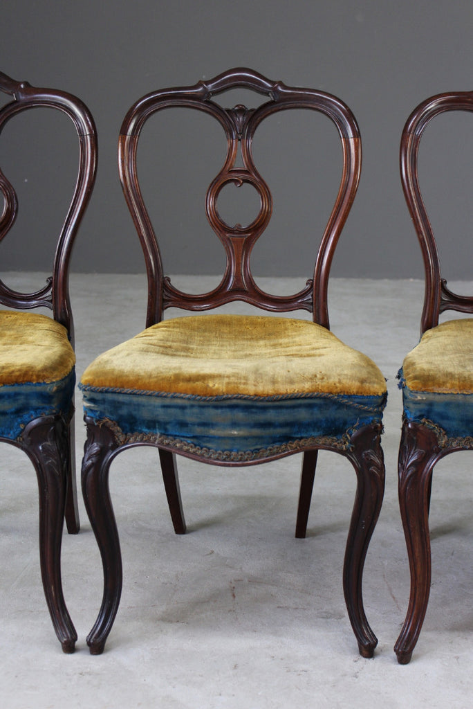 4 Victorian Rosewood Dining Chairs by Gillows - Kernow Furniture