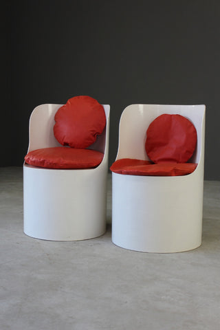 Pair Bernard Holdaway Tomotom Chairs - Kernow Furniture