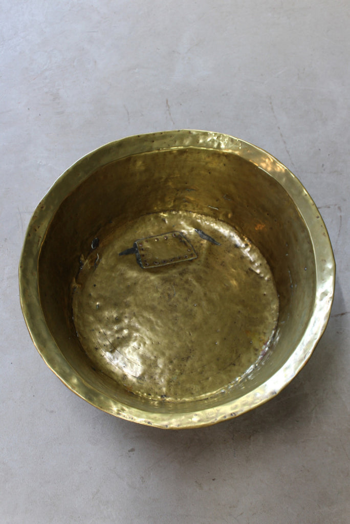 Antique Brass Basin Bowl - Kernow Furniture