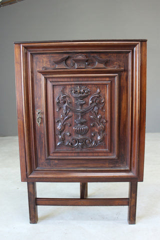 Carved Mahogany Corner Cupboard