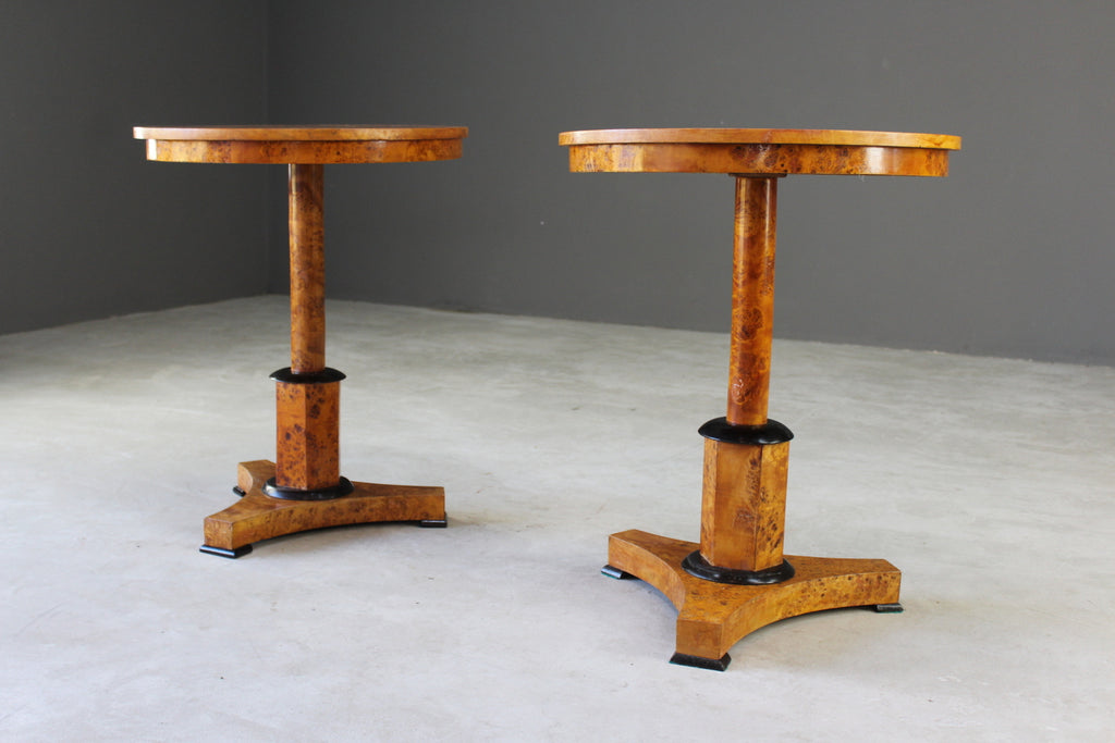 Pair Antique Biedermeier Tables - Kernow Furniture