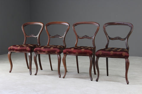 4 Victorian Rosewood Dining Chairs