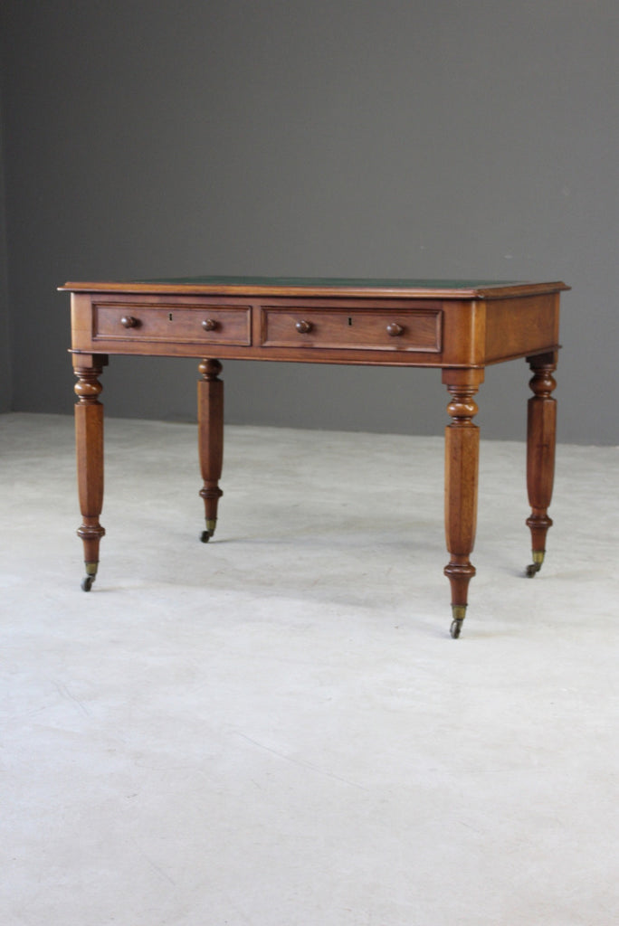 Antique Victorian Mahogany Writing Desk - Kernow Furniture
