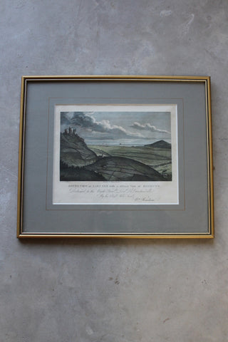 Carn Brea Coloured Engraving - Kernow Furniture