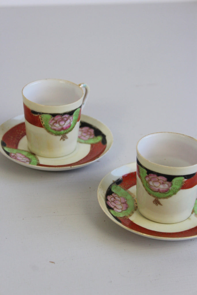 Pair Vintage Coffee Cups - Kernow Furniture