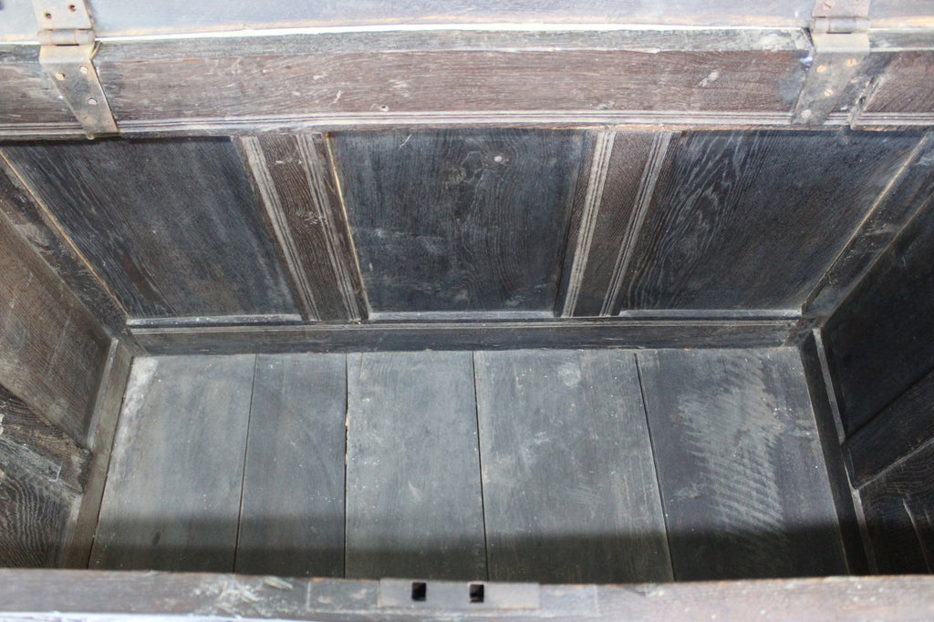 Antique Carved Oak Coffer - Kernow Furniture
