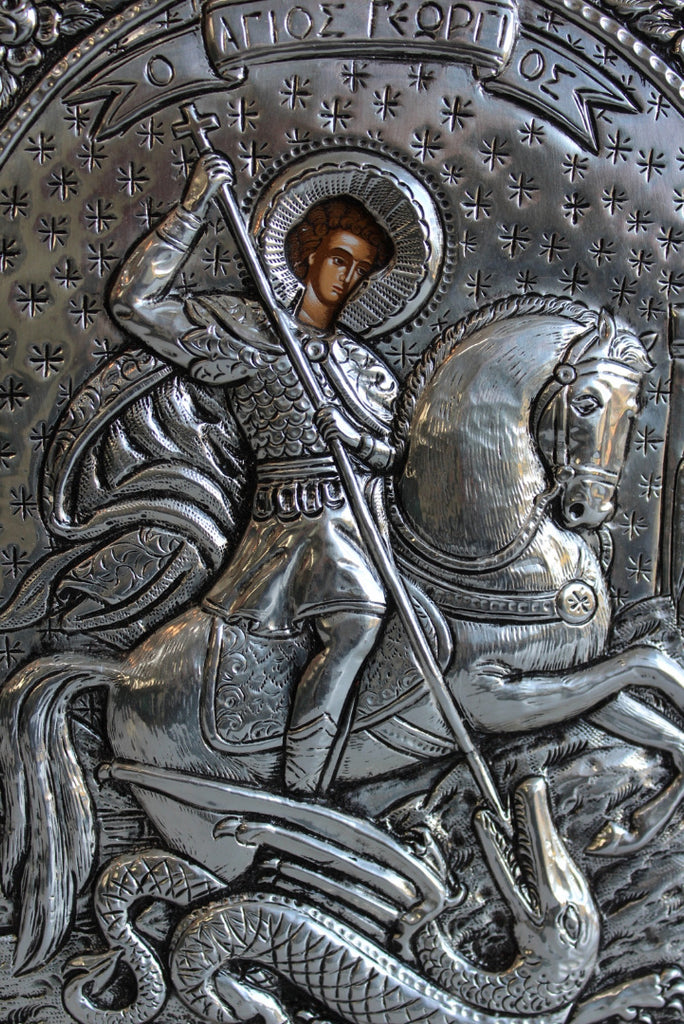Silver Greek Orthodox Icon - Kernow Furniture