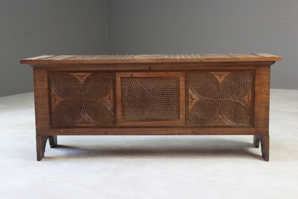 African Tribal Carved Chest - Kernow Furniture