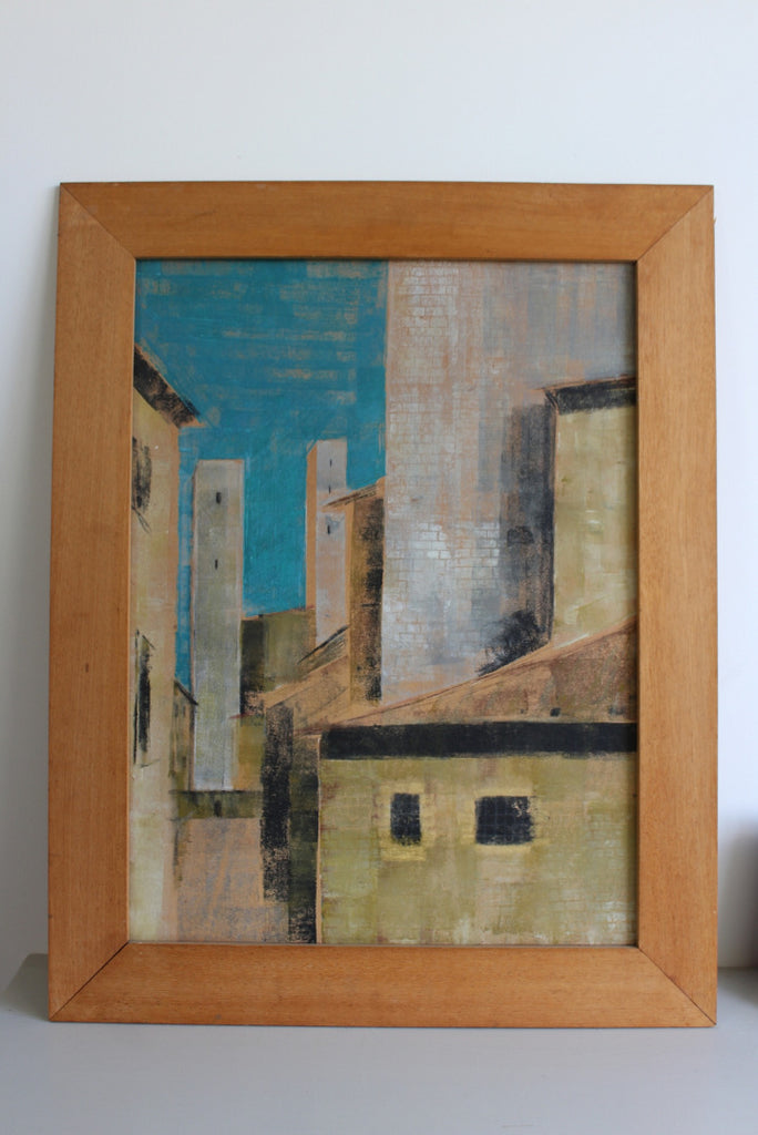 Abstract Townscape Painting - Kernow Furniture
