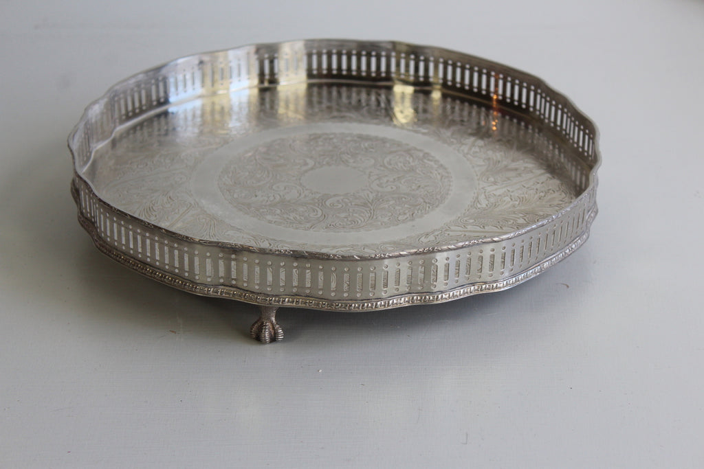 Silver Plated Drinks Tray - Kernow Furniture