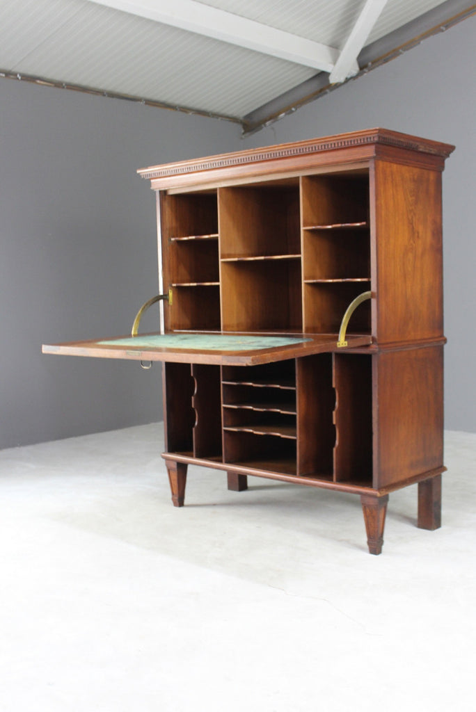 Large Continental Secretaire - Kernow Furniture