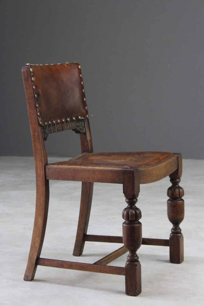 Single Vintage Leather Dining Chair