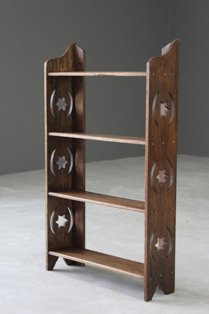 Small Arts & Crafts Oak Freestanding / Wall Shelves - Kernow Furniture