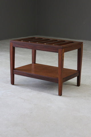 Teak Luggage Stand - Kernow Furniture