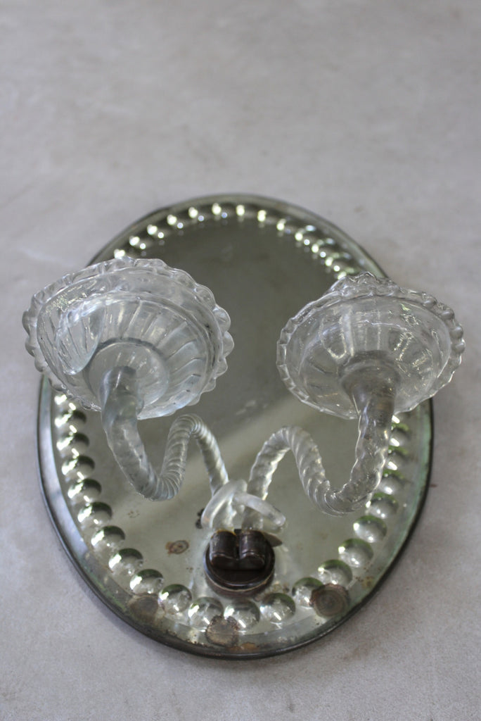 Antique Victorian Oval Mirror Wall Sconce - Kernow Furniture